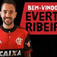 Flamengo anuncia Éverton Ribeiro; apresentação será nesta terça, na Gávea.