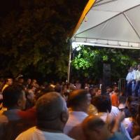 Governador e candidato ao governo tampão Mauro carlesse esteve na quadra 1203 sul em Palmas.